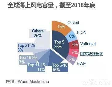 国能、国电投、三峡集团、华能、中广核和国电跻身全球海上风电业主排行榜!