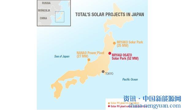 道达尔在日本建造第三座太阳能发电厂