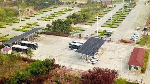 日照市首个光伏充电综合能源电动汽车充电站即将启用