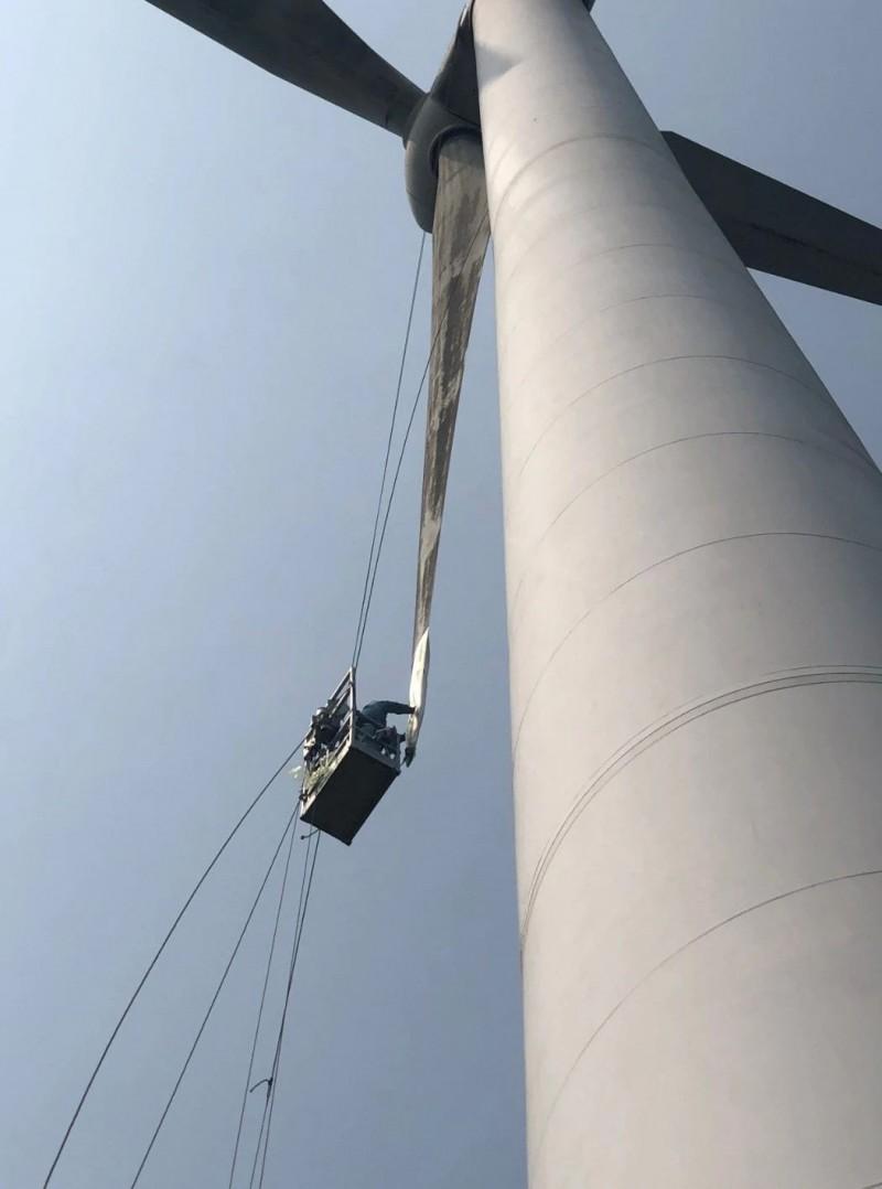 龍源電力浙江鶴頂山風電場開展葉片修補專項整治