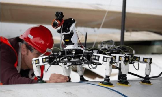 黑科技!六足履帶機器人未來海上風電葉片運維主力